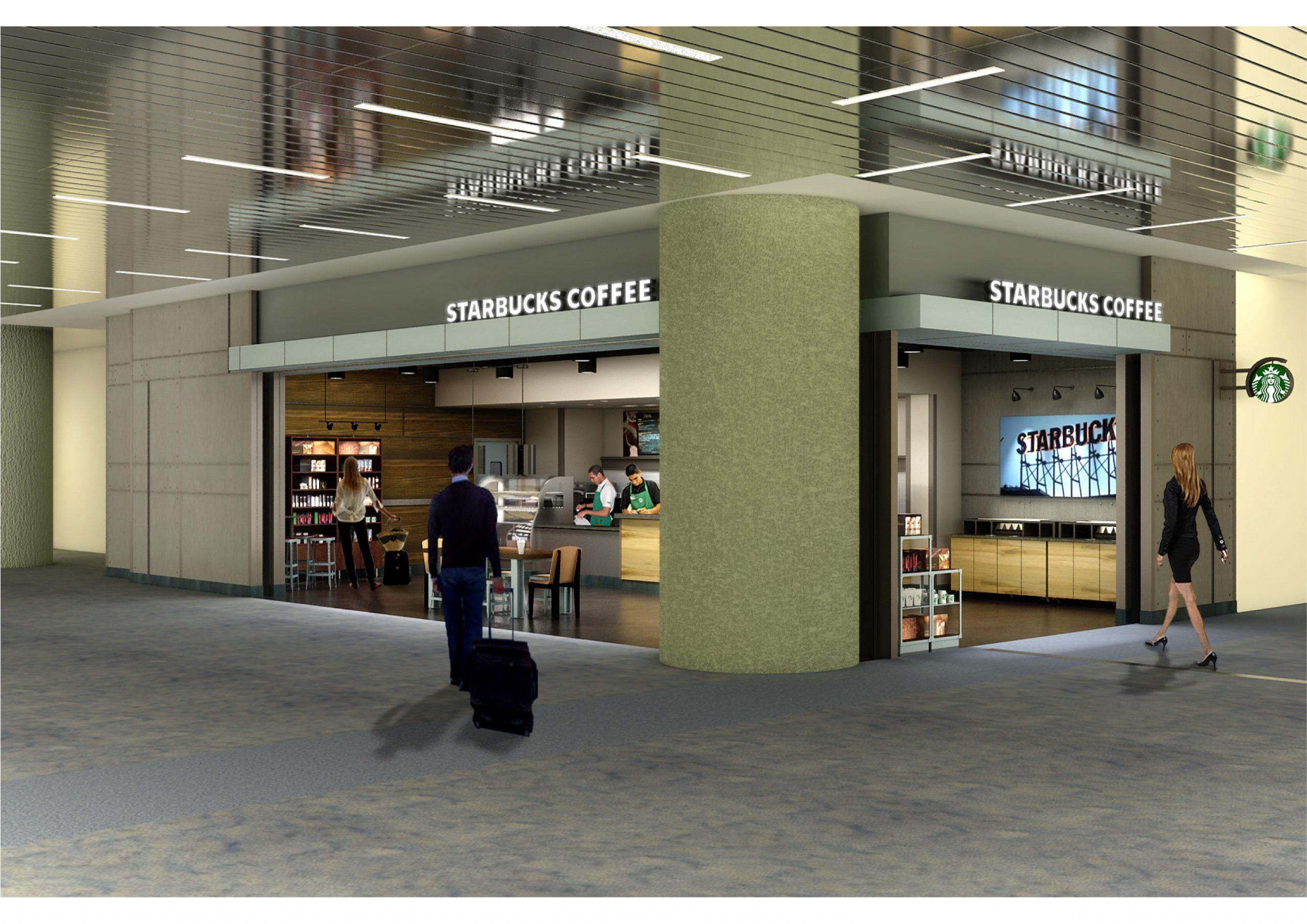 Starbucks Las Vegas International Airport Rendering 1