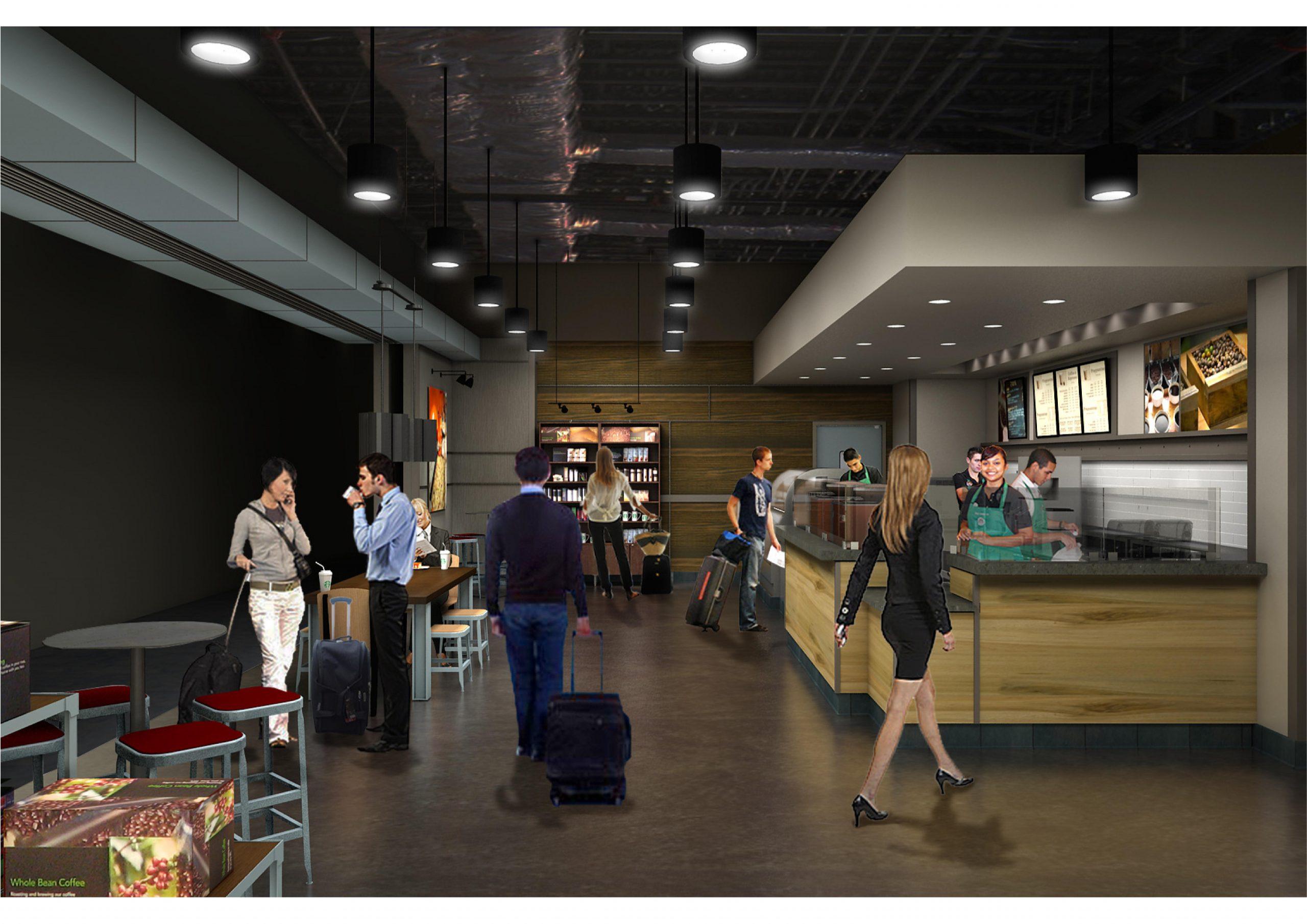 Starbucks Las Vegas International Airport Rendering 2